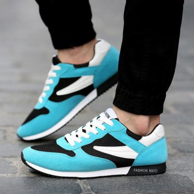 Fashionable Breathable and Colour Splicing Design Athletic Shoes For Men