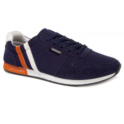 Stylish Tie Up and Splicing Design Athletic Shoes For Men