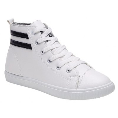 Casual Lace-Up and Round Toe Design Athletic Shoes For Women