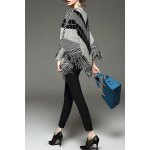 cheap Batwing Fringed Sweater