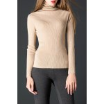 Ruched Pullover Turtleneck Knitwear