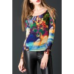 Colorful Print Pullover Tee deal