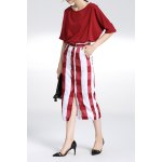 High Rise Checked Pencil Skirt for sale