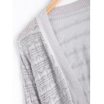 Simple Textured Hollow Out Knitted Cardigan For Women for sale