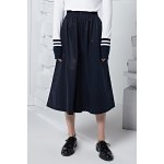 Solid Color Elastic Waist Wide Leg Pants