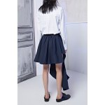 cheap Asymmetric Buttoned Skirt