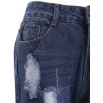 Trendy Bleach Wash Distressed Ripped Skinny Jeans for sale