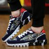 cheap Trendy Splice and Printed Design Athletic Shoes For Men