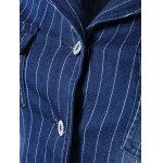 Stylish Lapel Appliques Striped Jacket deal
