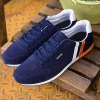 Stylish Tie Up and Splicing Design Athletic Shoes For Men deal