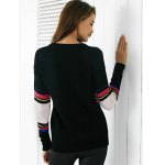 Chic Color Block Embroidery Women's Sweater photo