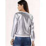 Glossy Pure Color Jacket For Women for sale