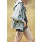 cheap Batwing Sleeve Embroidered Hoodie