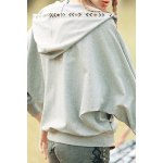Batwing Sleeve Embroidered Hoodie for sale