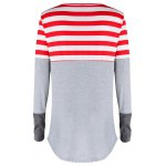 cheap Striped Pocket Tunic T-Shirt
