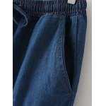 Oversized Bleach Wash Drawstring Denim Pants deal