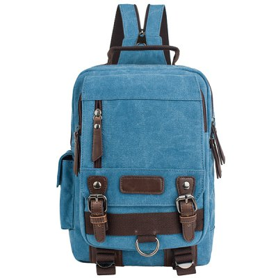 Double Buckle Design Backpack For Men