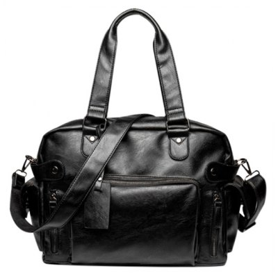 Black Color Design Tote Bag For Men