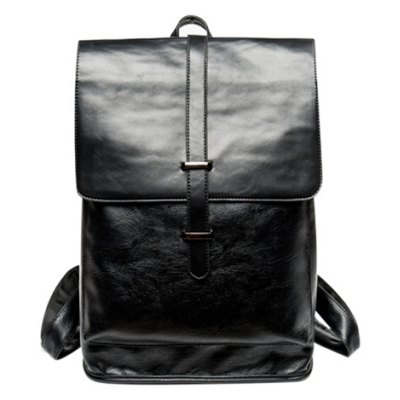 Trendy Strap and Black Color Design Backpack For Men