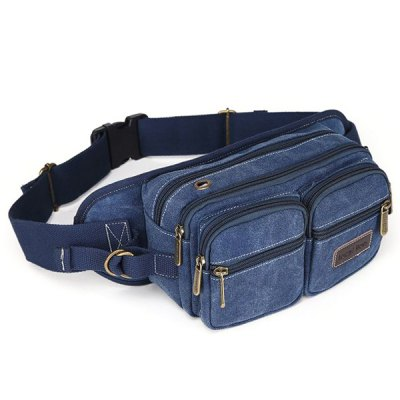 Casual Zippers and Canvas Design Messenger Bag For Men от GearBest.com INT