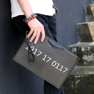 Casual Number and Black Design Clutches For MenMens Bags<br>Casual Number and Black Design Clutches For Men<br><br>Style: Casual<br>Gender: For Women<br>Pattern Type: Others<br>Handbag Size: Medium(30-50cm)<br>Closure Type: Zipper<br>Interior: Interior Zipper Pocket<br>Occasion: Versatile<br>Main Material: PU<br>Weight: 1.200kg<br>Package Contents: 1 x Clutches<br>Length: 32CM<br>Width: 1CM<br>Height: 21CM