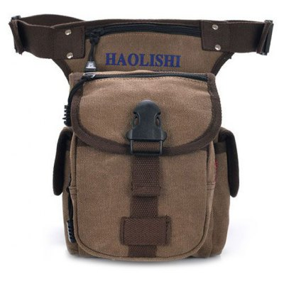Leisure Canvas and String Design Waist Bag For Men