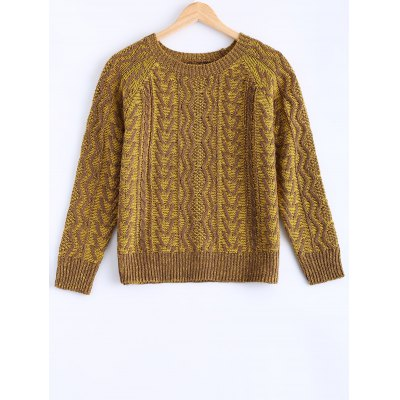 Women's Vintage Twist Color Mixture Sweater