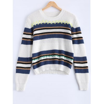 Women's Trendy Hit Color Striped Sweater