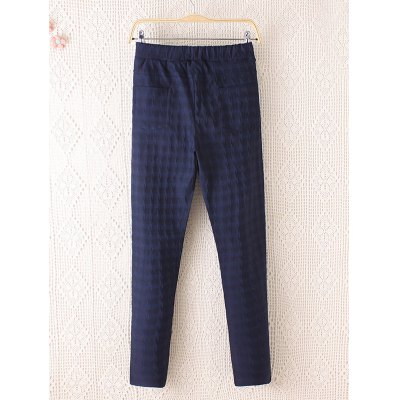 Plus Size Casual Plaid Pattern Pencil PantsPlus Size Bottoms<br>Plus Size Casual Plaid Pattern Pencil Pants<br><br>Style: Casual<br>Length: Normal<br>Material: Cotton,Polyester<br>Fit Type: Regular<br>Waist Type: Mid<br>Closure Type: Elastic Waist<br>Pattern Type: Plaid<br>Embellishment: Pockets<br>Pant Style: Pencil Pants<br>Weight: 0.371kg<br>Package Contents: 1 x Pants