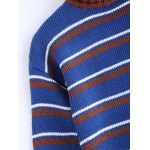 Fashionable Turtle Neck Striped Sweater for sale