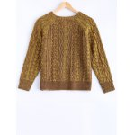 cheap Vintage Twist Color Mixture Sweater