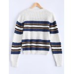 cheap Trendy Hit Color Striped Sweater