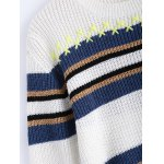 Trendy Hit Color Striped Sweater for sale