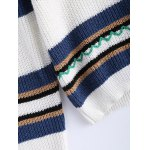 Trendy Hit Color Striped Sweater photo