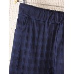 Plus Size Plaid Pattern Tapered Pants deal