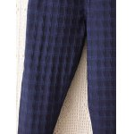 Plus Size Plaid Pattern Tapered Pants for sale