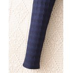 best Plus Size Plaid Pattern Tapered Pants