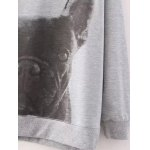 best Fashionable Dog Print Letter Pattern Sweatshirt For Women