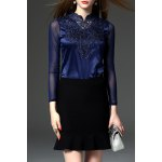 Lace and See-Through Spliced Tee deal