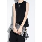 Black Double Layer Tank Top