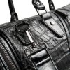 Trendy Crocodile Embossed and Black Design Tote Bag For Men photo