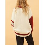 Casual Round Collar Basketball Embroidered Women's Sweater deal