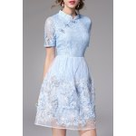 Lace Sequined Qipao Dress for sale