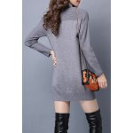 cheap Turtleneck Jacquard Long Sleeve Sweater