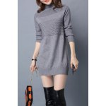 Turtleneck Jacquard Long Sleeve Sweater deal