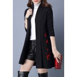Flower Embroidered Long Cardigan deal