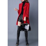 best Stand Collar Embroidered Belted Cardigan