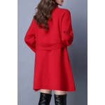 cheap Stand Collar Embroidered Belted Cardigan
