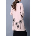 cheap Flower Embroidered Long Sleeve Long Cardigan