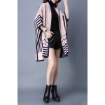 Striped Batwing Sleeve Cape Cardigan for sale